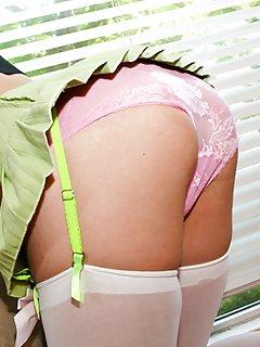 Ladyboy in Stockings Porn Pics